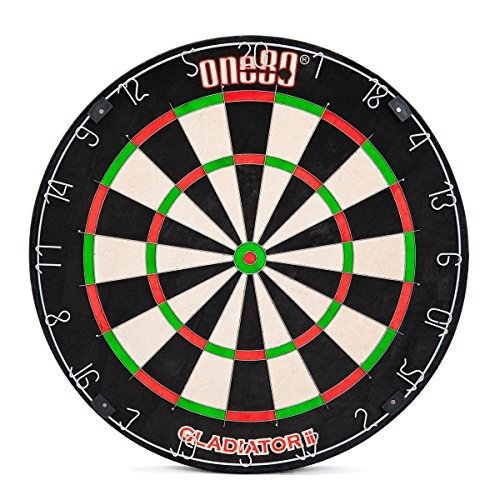 ONE80 GLADIATOR II Self-Healing Kenyan Sisal/Bristle Dartboard - Edge Scoring System