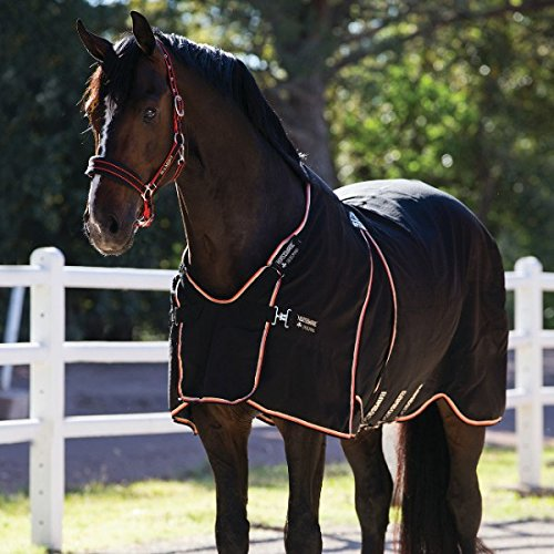 Horseware Rambo Optimo Stable Sheet Summer 0g - Black/Tan Orange & Black