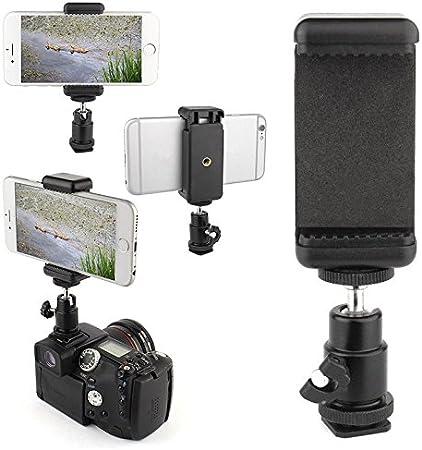 360 Kugelkopf Blitzschuh Adapter Halterung Handy Kamera