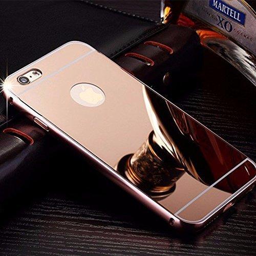 f81580aa9 Capa Case Bumper Alumínio Espelhada Apple iPhone 6g 6s Rosa  Amazon ...
