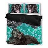 Amazing Newfoundland Print Bedding Set - Dog Lovers Gifts - Custom Cover Print Design Pillow Cases & Duvet Blanket Cover - Pet Gift Ideas