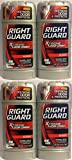 Right Guard Antiperspirant & Deodorant For Men - Invisible Solid - Xtreme Odor Combat - Surge Scent - Net Wt. 2.6 OZ (73 g) Per Stick - Pack of 4