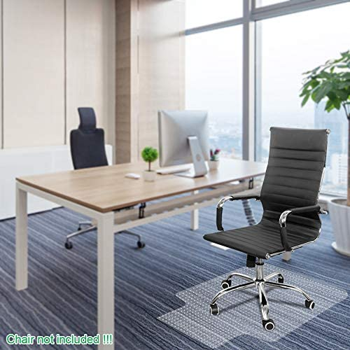Office Chair Mat for Carpets Waterproof PVC Multi Purpose Office, Home Floor Protector for Hard Floor Thick Highly Quality with Studs 36 X 48 Thick 2MM with Lip Nails