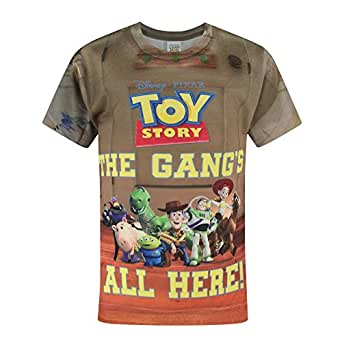 Toy Story Childrens/Boys Official The Gangs All Here T-Shirt (Years (7/8)) (Multicoloured)