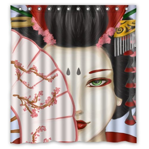 Mayers 66quotW X 72quotH Mysterious Japanese Geisha Girl