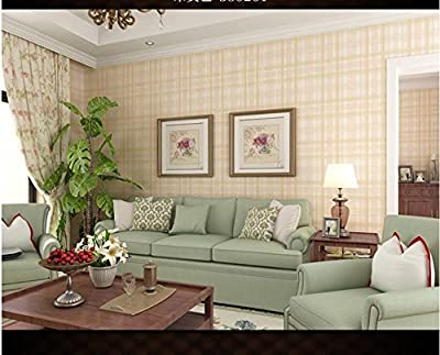 Ayzr Non-woven American English lattice wallpaper Living room bedroom children's room background wallpaper