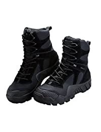 Free Soldier Outdoor Men 6 Inches Hiking Shoes Scratch-Resistant Desert Tactical Duty Work Boots