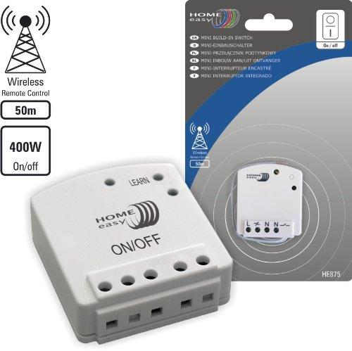 Home Easy HE875 Funk-Mini-Einbauschalter: Amazon.de: Baumarkt