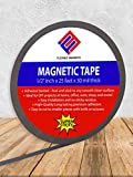 3 Rolls Flexible magnets Craft Adhesive Magnetic Strip, 1/2-Inch x 25-Feet