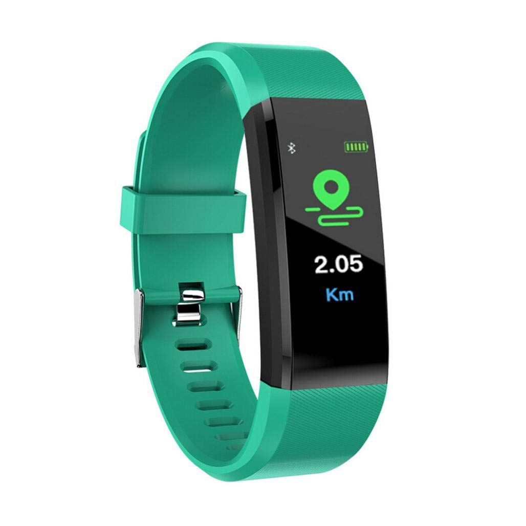 Lovewe Fitness Tracker, Activity Tracker Watch with Heart Rate Monitor, Waterproof Smart Fitness Band with Step Counter, Calorie Counter, Pedometer Watch for Kids Women and Men, Android iOS (Green)