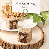Rustic Burlap Place Card / Photo Holder , 60 by Fashioncraft