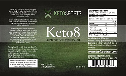 KetoSports Keto8 Dietary Supplement, 12 Fluid Ounce by KetoSports