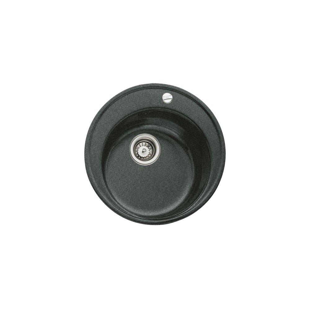 Teka 88578 Tegranit granito fregadero de cocina con ú nico cuenco de CENTROVAL 45-tg, metá lico), color negro metálico)