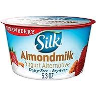 SilkAlmondmilk Yogurt Alternative, Strawberry, Vegan, 5.3 Oz