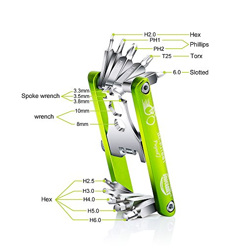 Blika 11 in 1 Multi Function Cycling Bicycle Repair Tool Kit for Fixing Bike Stand Chain