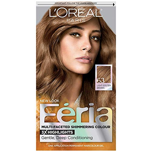 - L'Oreal Paris Feria Multi-Faceted Shimmering Color, Light Golden Brown [63] 1 ea ( Pack of 2)