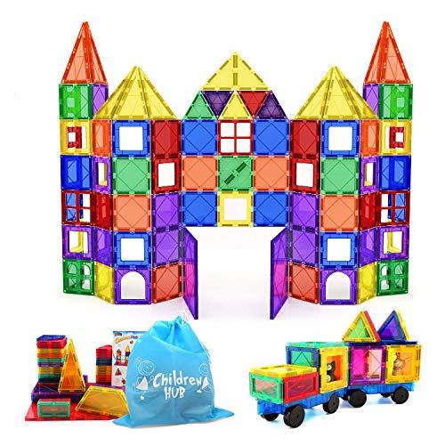 Children Hub 100pcs Magnetic Tiles Set   Building Construction Toys for Kids   Upgraded Version
