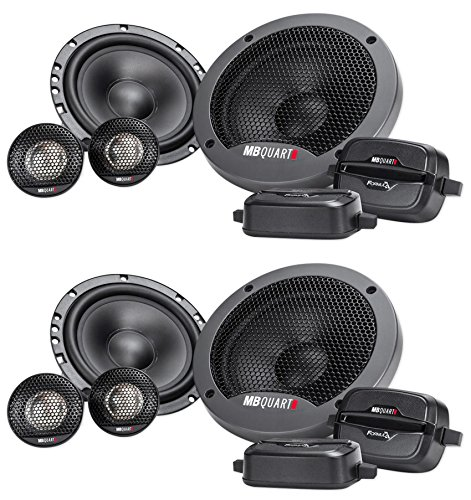 (2) Pairs MB QUART FSB216 6.5″ 280 Watt Car Audio Component Speakers