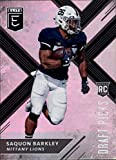 #7: 2018 Panini Elite Draft Picks Variation #105 Saquon Barkley Penn State Nittany Lions RC Rookie Football Card