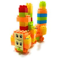 FunBlast Building Blocks for Kids with Wheel, Bag Packing, Best Gift Toy, Multicolor (Set of 46 Pcs)