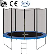 EPROSMIN 12Ft Jump Trampoline - with Enclosure Net - Combo Bounce Outdoor Trampoline for Kids Family Happy Tim