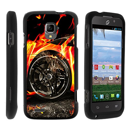 ZTE Rapido LTE Phone Case, Slim Hard Shell Snap On Case with Custom Images for ZTE Rapido LTE Z932L from MINITURTLE - Blazing Hot Wheels