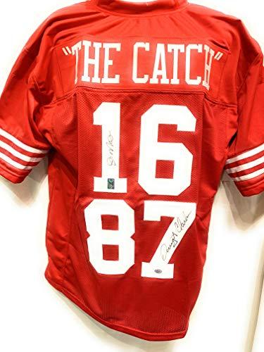 Joe Montana Dwight Clark San Fransico 49ers Dual Signed Autograph Custom Jersey 49ers THE CATCH GTSM & Authentic Certified