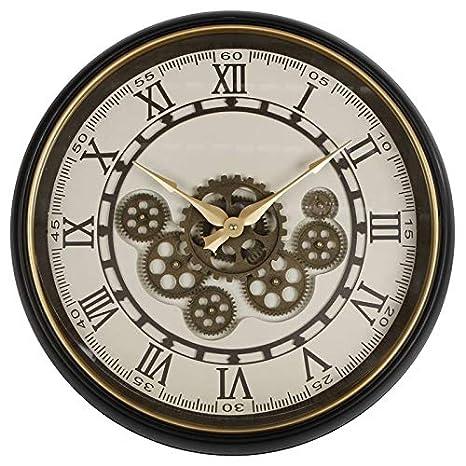 Lhéritier Du Temps Horloge Ronde Pendule Murale Vintage