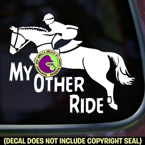 jumping horse trailer decal - 2