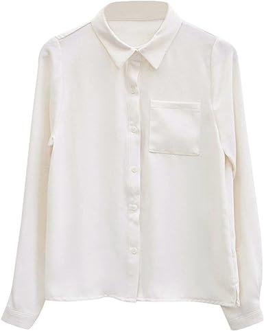 Camisa Trabajo Mujer, Camisa de Mujer Suelta Camisa de Manga Larga Camisa de Trabajo Formal Camisa Formal Suelta: Amazon.es: Ropa y accesorios