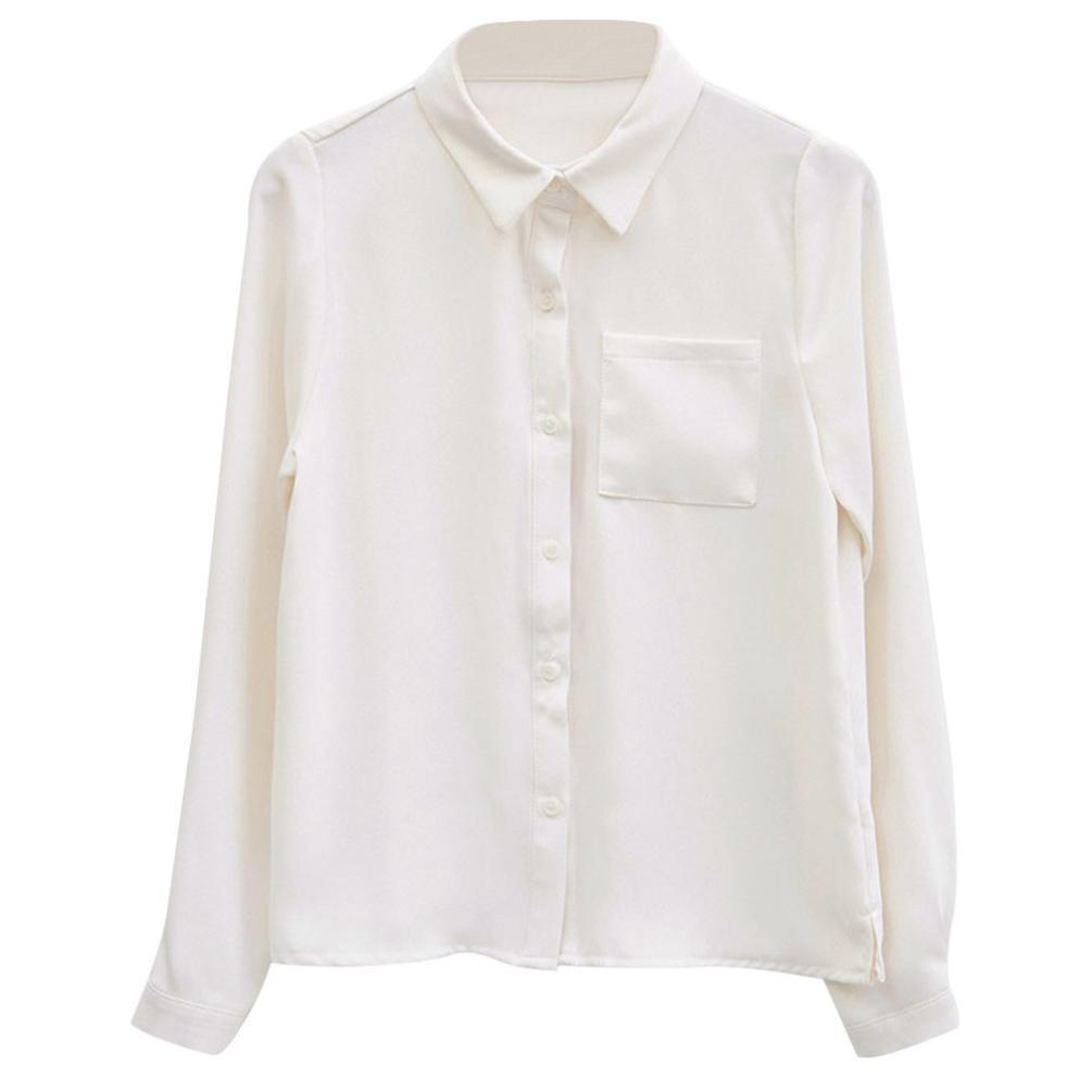 Covermason Mujer Ropa Camisa Trabajo Mujer, Camisa de Mujer Suelta Camisa de Manga Larga Camisa de Trabajo Formal Camisa Formal Suelta: Amazon.es: Ropa y ...