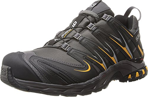 Salomon Men's XA Pro 3D CS WP Trail Running Shoe,Autobahn/Black/Yellow Gold,11 M US