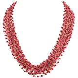 Zephyrr Jewellery Hand Made Golden Multi Strand Beaded Necklace for Women and Girls