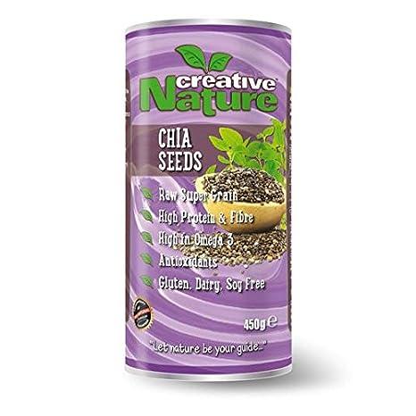 La naturaleza creativa cruda Chia Semillas 450g: Amazon.es ...