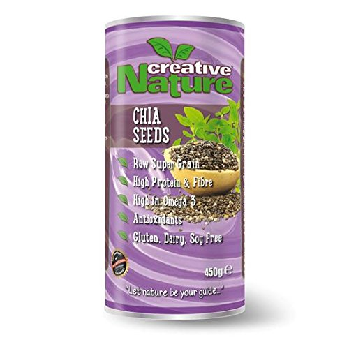 La naturaleza creativa cruda Chia Semillas 450g: Amazon.es ...