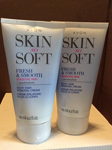 Skin So Soft Fresh & Smooth Sensitive Skin + meadowfoam Body Hair Removal Cream lot 2 pcs.
