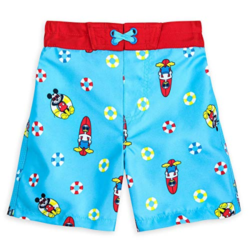 (Disney Mickey Mouse and Donald Duck Swim Trunks for Boys Size 4 Multi)