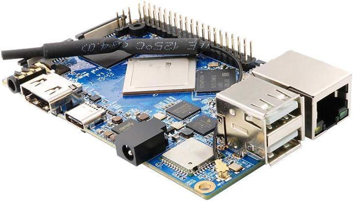 Motherboard + Power + 16G Card Taidacent Orange Pi 4B Development Board RK3399 4GB DDR4 16GB EMMC Built-in NPU On-Board 2.4//5G Dual-Band WiFi Bluetooth 5.0 Dual Camera Input
