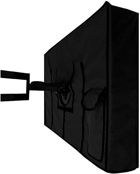 Material de Calidad Resistente a la Intemperie y al Polvo con Gamuza de Microfibra para Exteriores para Mantener tu TV al Aire Libre Seguro y Proteger tu TV Ahora #81063 30-32 Negro