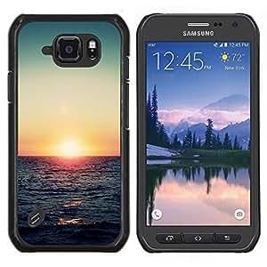 LECELL--Funda protectora / Cubierta / Piel For Samsung Galaxy S6Active Active G890A -- la puesta del sol del océano verde azulado verano Mar Rojo --