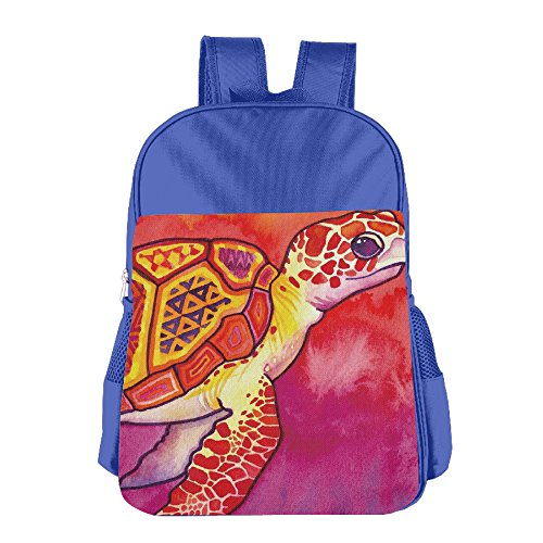 urtle Watercolor Backpack Shoulder Bag Students Schoolbag For Girls&Boys(2colors:Pink.Blue) (Color Back Sea Turtle)