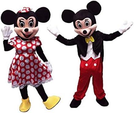 Pareja Mickey & Minnie Mouse Mascot personajes de dibujos animados ...