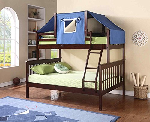 DONCO KIDS Tent Topper Kit Cappuccino with Blue Tent , Twin by Donco Kids