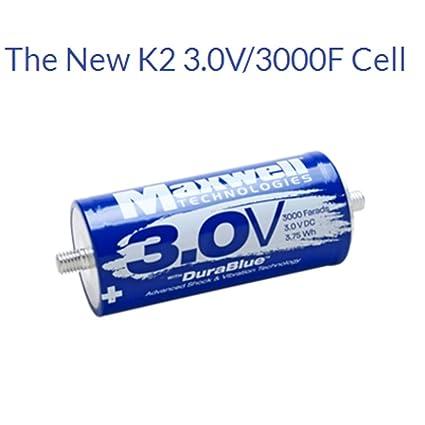 Amazon com: Maxwell DuraBlue car Audio Super Capacitor 3 0V