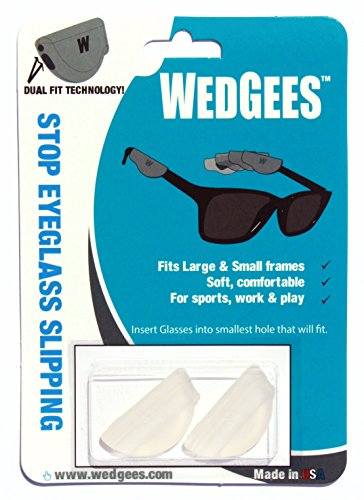 Wedgees Eyeglass Retainers, Dual fit Molded Clear (4 + 1) packs, (5 - Eyeglasses 4 All