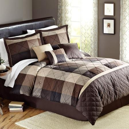 Better Homes and Gardens Elliot Plaid 7-Piece Bedding Comfor