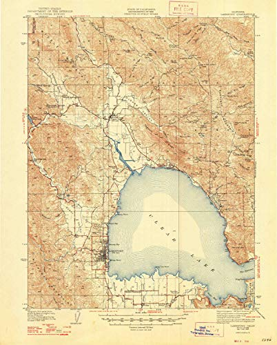 Chair Alder Outdoor (YellowMaps Lakeport CA topo map, 1:62500 Scale, 15 X 15 Minute, Historical, 1938, Updated 1948, 20.7 x 16.7 in - Paper)