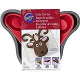 wilton cake pans silicone - Wilton Reindeer Cake Pan Set