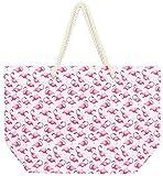 DEI Flamingo Pattern Tote, 22'' x 15''