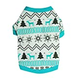 Puppy Clothes,Neartime Doggy Outfit Printed Snow Fawn Interlock Christmas Pet Shirt (M)